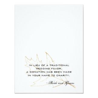 "Autumn Oak Leaf Wedding Charity Favor Card 4.25"" X 5.5"" Invitation Card"