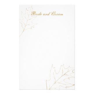 Autumn Oak Leaf Wedding Custom Stationery
