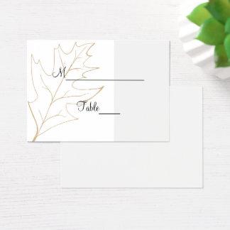 Autumn Oak Leaf Wedding Place Card
