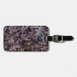 Autumn Oak Leaves Bag Tag