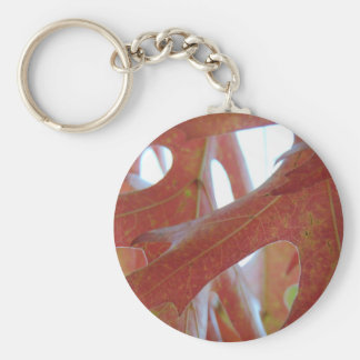 Autumn Oak Leaves Keychain
