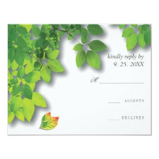 Autumn Oak Reply RSVP Card