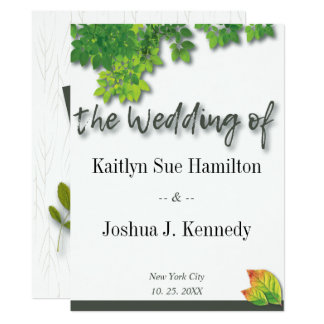 Autumn Oak Wedding Card