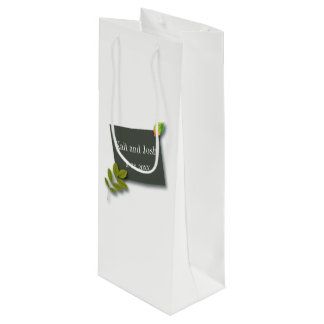 Autumn Oak Wedding Wine Gift Bag