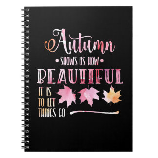 Autumn of leaves, case - Goodbye, poem. Notebook