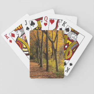 Autumn on the Bike Trail II Playing Cards