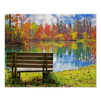 Autumn On the Lake Poster