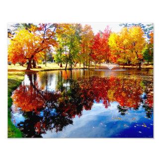 Autumn on the pond photo print