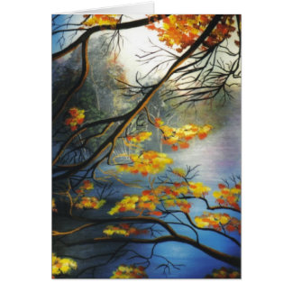 """Autumn on the River"" Card"
