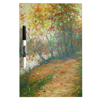 Autumn on the river dry erase board