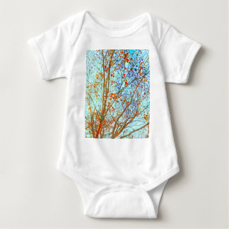 Autumn Orange Leaves and Blue Sky Baby Bodysuit