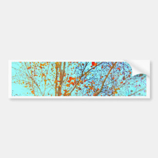 Autumn Orange Leaves and Blue Sky Bumper Sticker