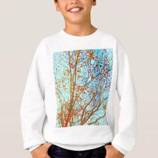 Autumn Orange Leaves and Blue Sky Sweatshirt