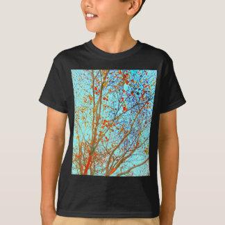 Autumn Orange Leaves and Blue Sky T-Shirt