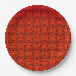 Autumn Orange Paper Plate