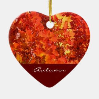 Autumn ornaments Orange Colorful Leaves Beautiful