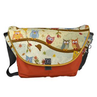 autumn owl commuter bag