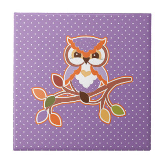 Autumn Owl Tile