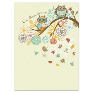 Autumn Owl Tissue Paper