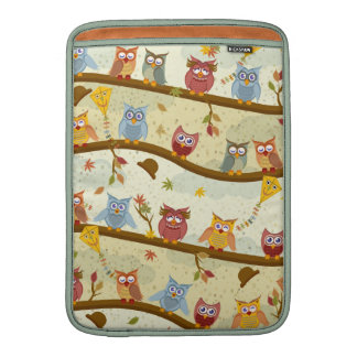 autumn owls MacBook sleeve
