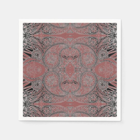Autumn Paisley Patterned Disposable Napkins