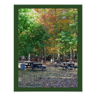 Autumn Park Scene Photo Poster