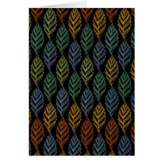 Autumn pattern b card
