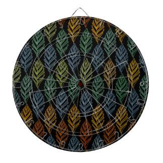 Autumn pattern b dartboard