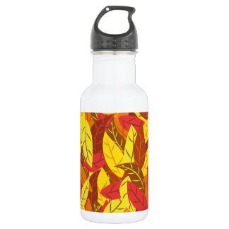 Autumn pattern colored warm leaves 532 ml water bottle