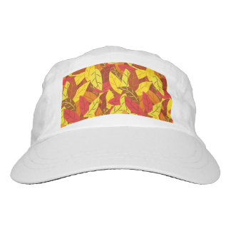 Autumn pattern colored warm leaves hat