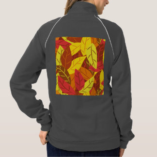 Autumn pattern colored warm leaves jacket