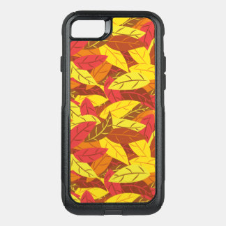Autumn pattern colored warm leaves OtterBox commuter iPhone 8/7 case