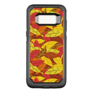 Autumn pattern colored warm leaves OtterBox commuter samsung galaxy s8 case