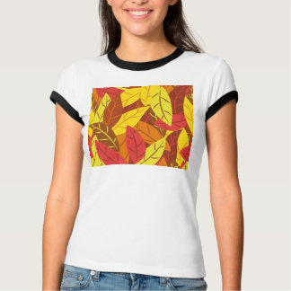 Autumn pattern colored warm leaves T-Shirt