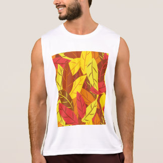 Autumn pattern colored warm leaves tank top