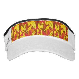 Autumn pattern colored warm leaves visor