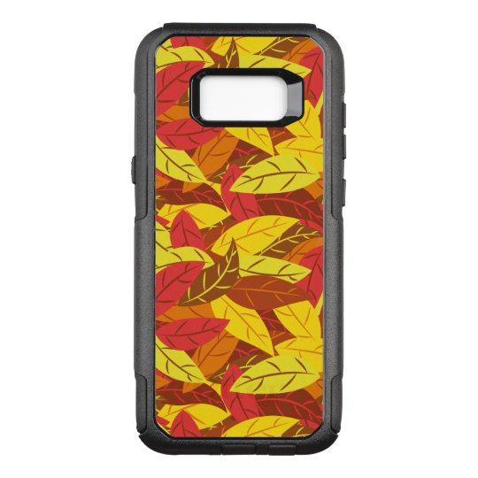 Autumn pattern coloured warm leaves OtterBox commuter samsung galaxy s8+ case