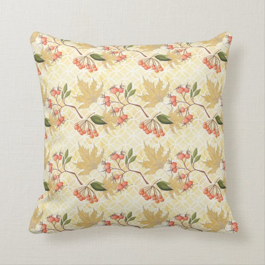 Autumn Pattern Throw Pillow