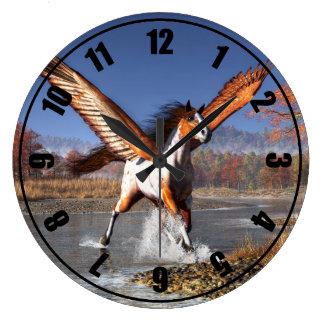 Autumn Pegasus Large Clock