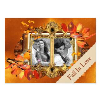 "Autumn Photo Save the Date 5"" X 7"" Invitation Card"