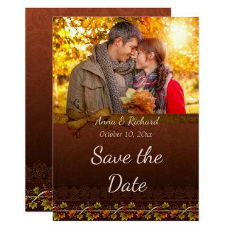 Autumn Photo Save the Date Card