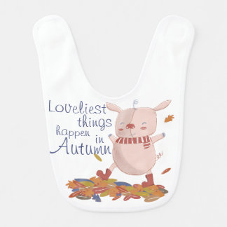 Autumn piggy bib