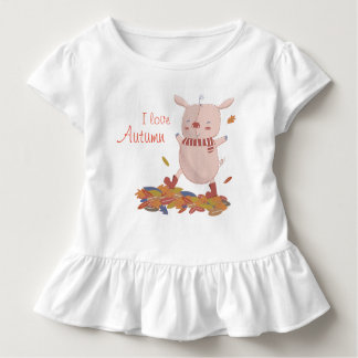 Autumn piglet toddler t-shirt
