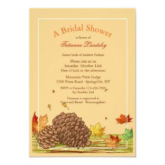 Autumn Pinecones Invitation