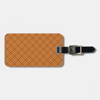 Autumn Plaid Pattern Design Texture Bag Tag