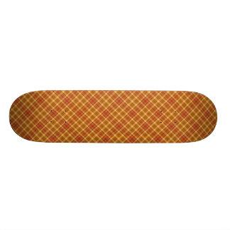 Autumn Plaid Pattern Design Texture Skate Board Decks