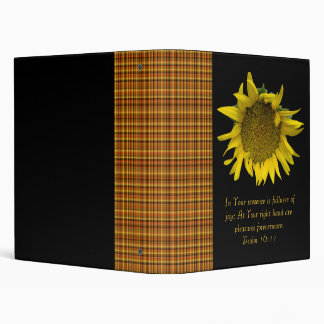 Autumn Pleasures Sunflower 3 Ring Binders
