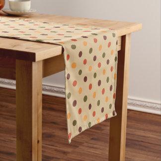 Autumn Polka Dot Table Runner