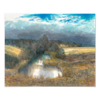 autumn pond photo print
