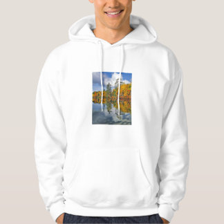 Autumn pond reflections, Maine Hoodie